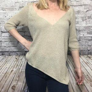 ‼️ZARA KNIT Asymmetrical hem 3/4 Sleeve Sweater M